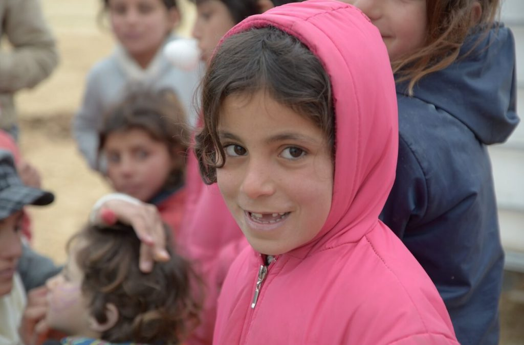 A Syrian girl in a camp in Lebanon